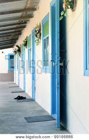 Blue Doors And Windows