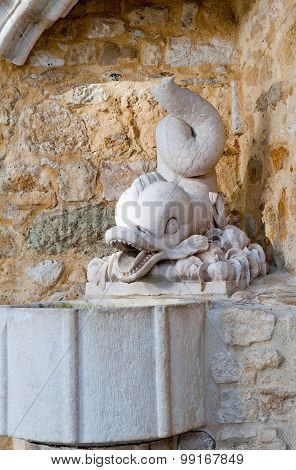 Old Fountain In The Castle