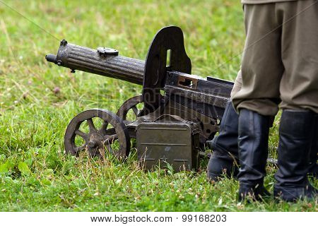 Ww II Maxim Machine Gun