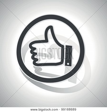 Like sign sticker, curved