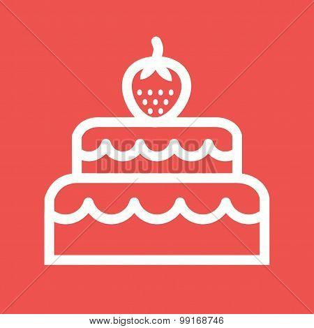 Two layered cake