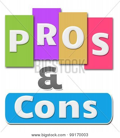 Pros And Cons Colorful Stripes