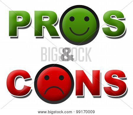 Pros And Cons Smile Sad
