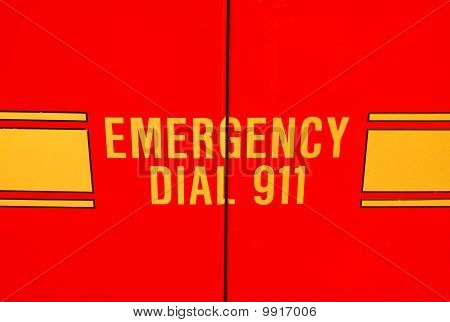 Emergency vehicle door