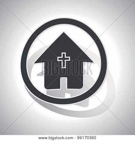 Christian house sign sticker, curved