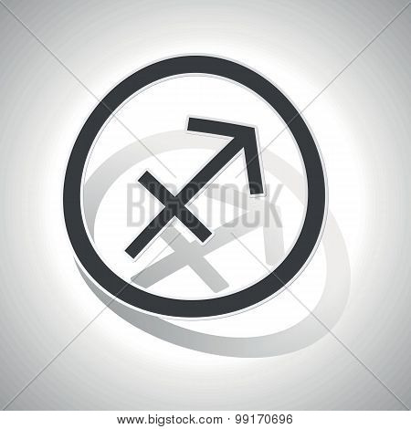 Sagittarius sign sticker, curved