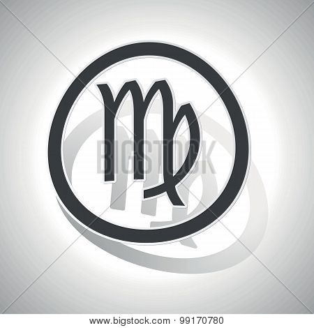 Virgo sign sticker, curved