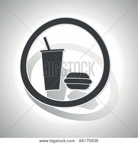 Fast food sign sticker, curved