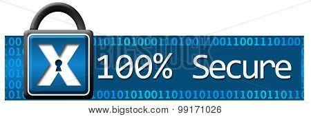 Hundred Percent Secure Binary Horizontal