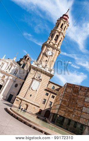 Cathedral of the Savior in Saragossa, Spain