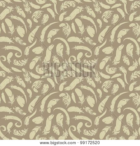feathers seamless pattern. vector background for your designe
