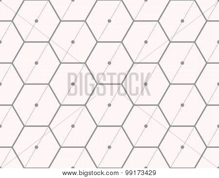 Seamless pattern of the hexagonal net