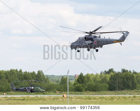 Landing Of Helicopter Mi-35