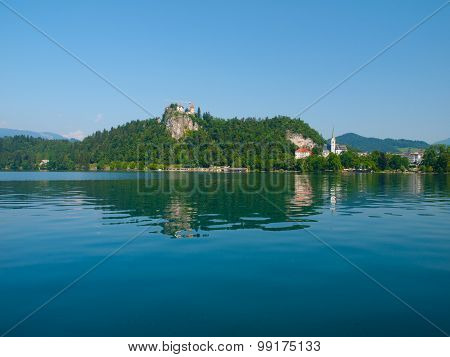 Bled Castle and lake in Slovenia
