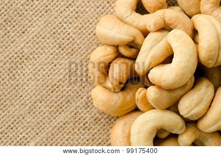 Close Up Roasted Cashews