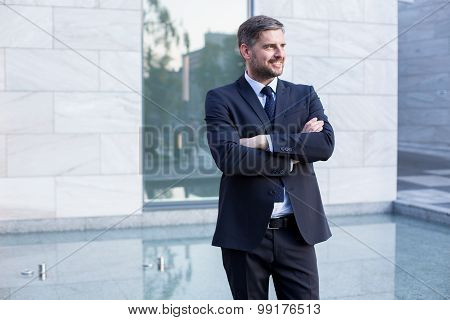 Handsome And Confident Businessman