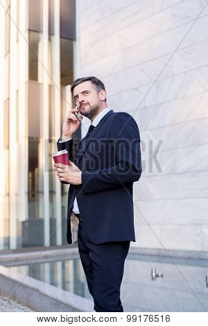 Office Worker With Coffee
