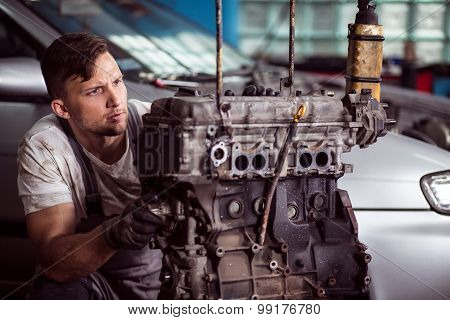 Professional Technician Diagnosing Problem