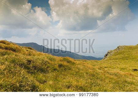 Majestic landscape in mountains