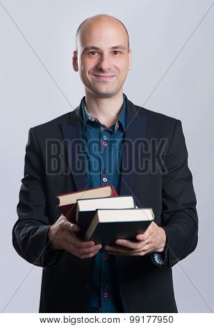 Business Man With Books