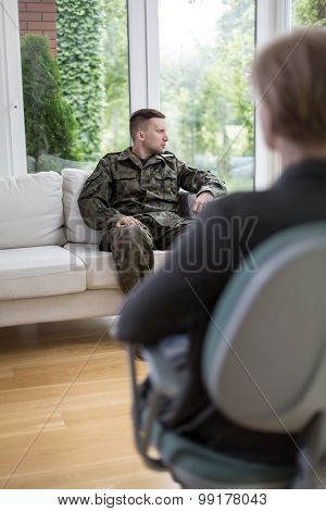 Soldier During Psychotherapy Session