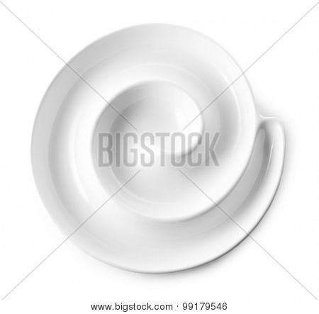Empty plate for shrimps isolated on white