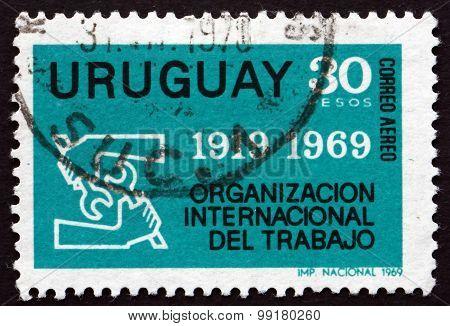 Postage Stamp Uruguay 1969 Ilo Emblem