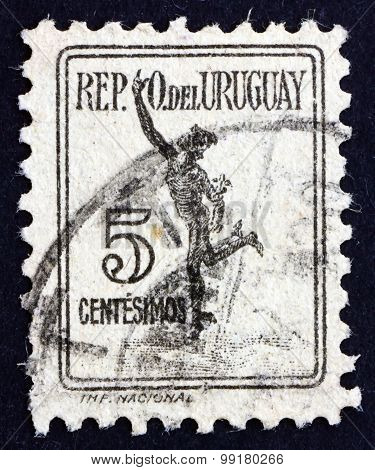 Postage Stamp Uruguay 1927 Mercury, Parcel Post Stamp