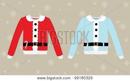 Christmas sweater on background