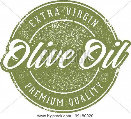Vintage Extra Virgin Olive Oil Label