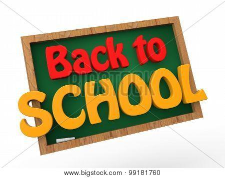 3d back to school green board