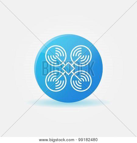 Drone logo or icon