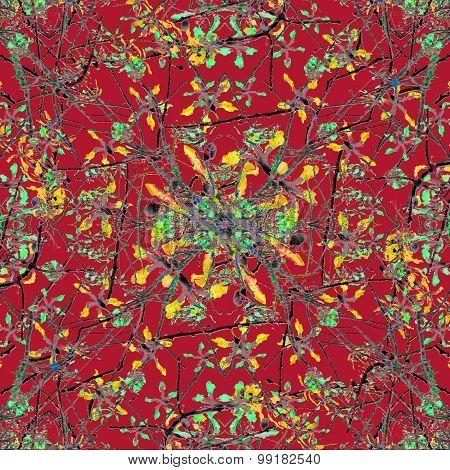 Colorful Oriental Floral Motif