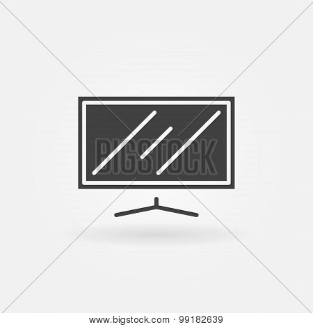 Flat screen TV icon