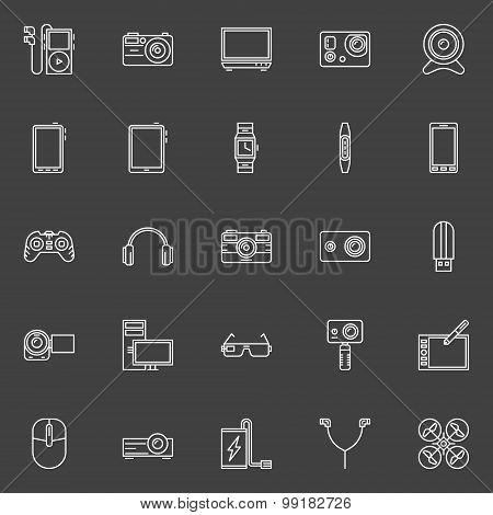 Gadgets icons set