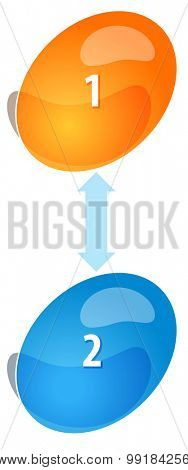 Blank business strategy concept infographic diagram illustration Oval Cycle Two