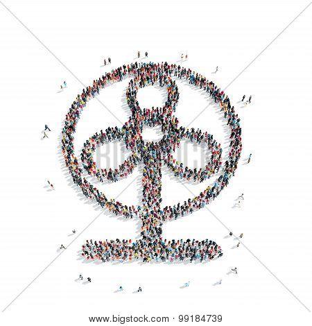 group  people  shape  fan