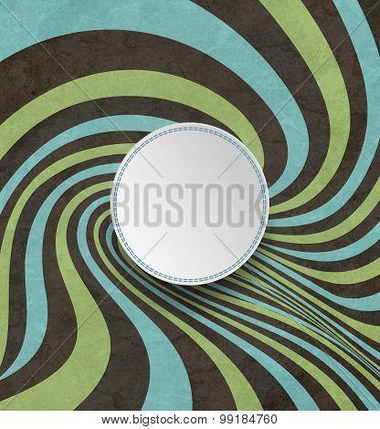 Vintage Striped Distorted Background