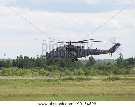 Planting Of The Russian Mi-35