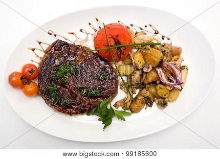 Ribeye Steak From Marble Beef