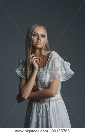 photo of beautiful blonde girl