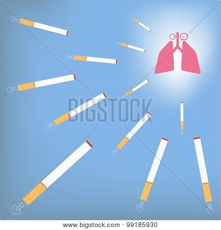 Lung And Cigarette.