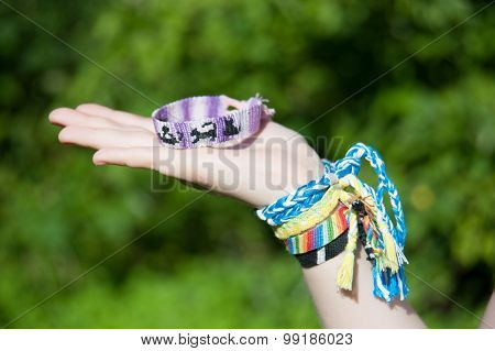 bracelets from threads