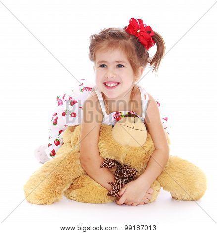 Girl with a bear