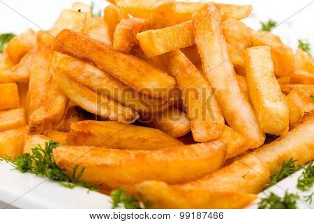 pile of appetizing french fries