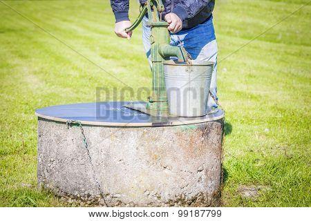 Man powered water pump