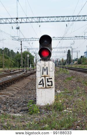 Semaphore On The Railway
