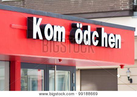 DUSSELDORF, GERMANY - JULY, 2015: Famous Dusseldorf cabaret theatre Komodchen