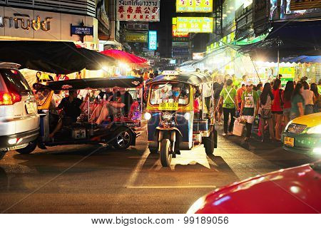 Bangkok Chinatown Traffic, Thailand