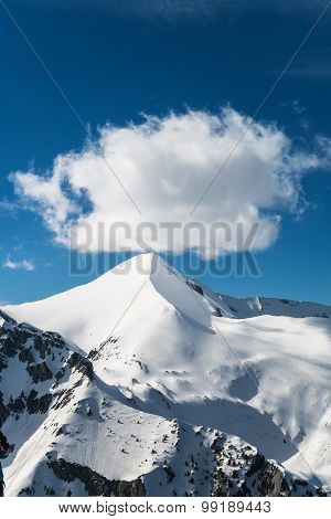 Snowcapped Mountain Peak